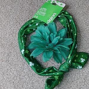 Saint Patrick's hair scarf and pin
